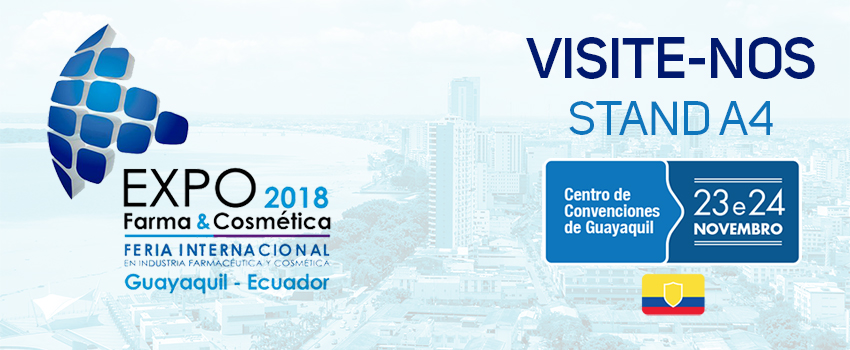 Estaremos presentes na Expo Farma & Cosmética 2018, no Equador